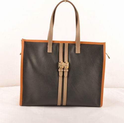 Fendi Black Ferrari Leather Shopping Tote Bag         $279.00