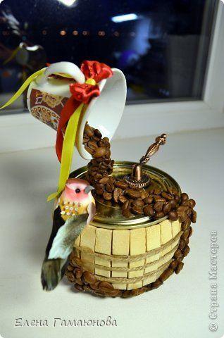Декор предметов Мастер-класс День рождения Ассамбляж Как я оформила баночку кофе в подарок Кофе фото 1