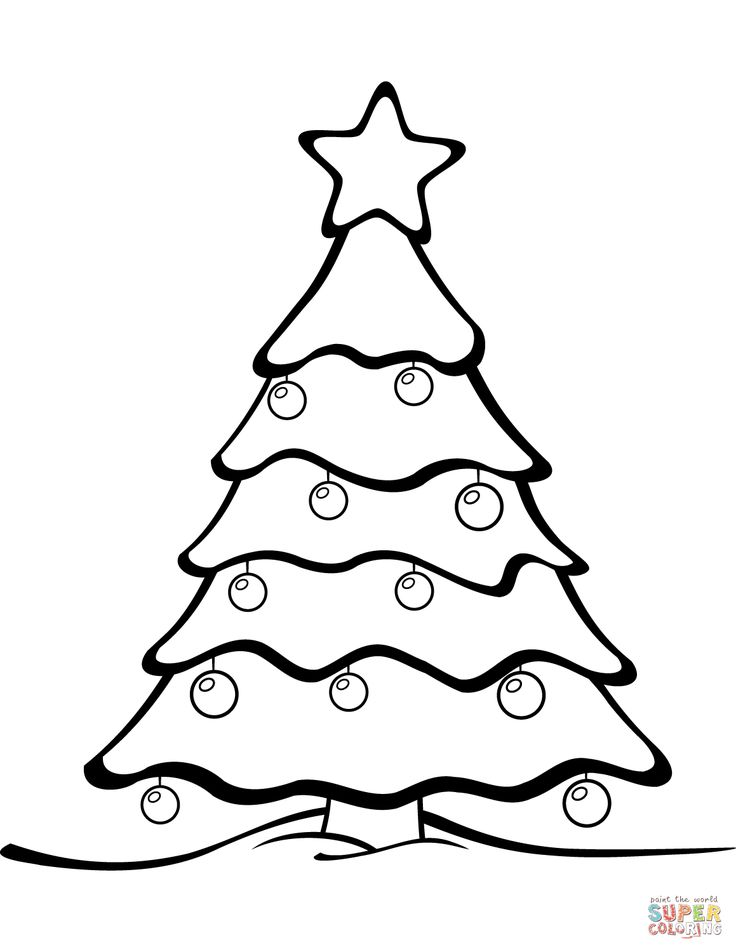 Best 25+ Christmas tree coloring page ideas on Pinterest ...