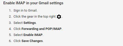 imap settings for gmail , gmail sever settings, POP/SMTP/POP3 Settings etc..,