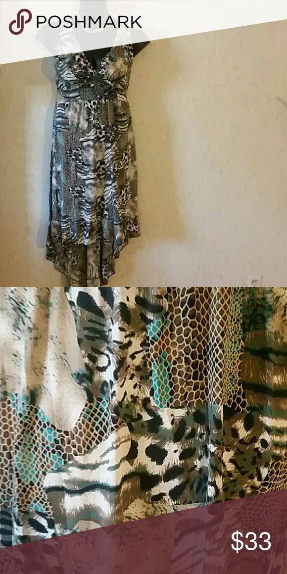 Hi Low Maxi Dress Multicolor  Fits sizes medium to large Dresses