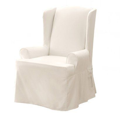 slipcover for wing chair in reading nook  6700 from