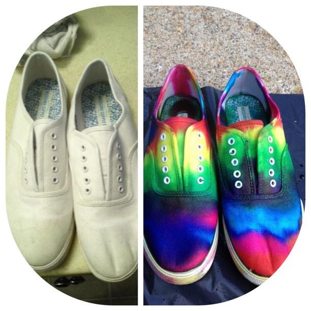 Tie Dye shoes by Katie Adie using Tulip Tie Dye!