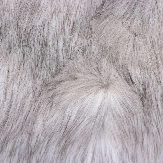 "Faux wolf fur, 9"" L by 5.5"" W Husky fur, Arctic wolf fur ..."