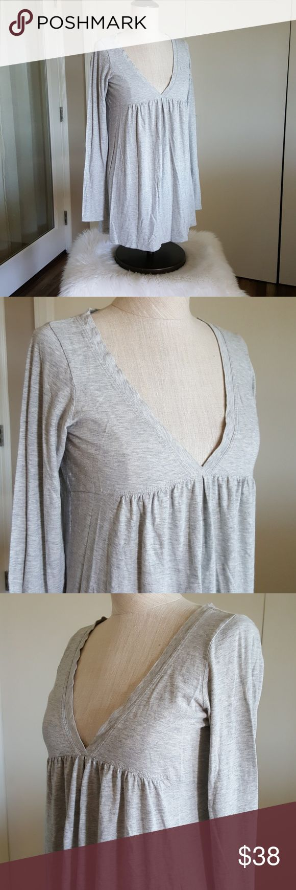 "VINCE Grey Long Sleeve Top Size Medium Grey Long Sleeve  Euc very gently worn and in fabulous condition 17"" across 28"" long Vince Tops"