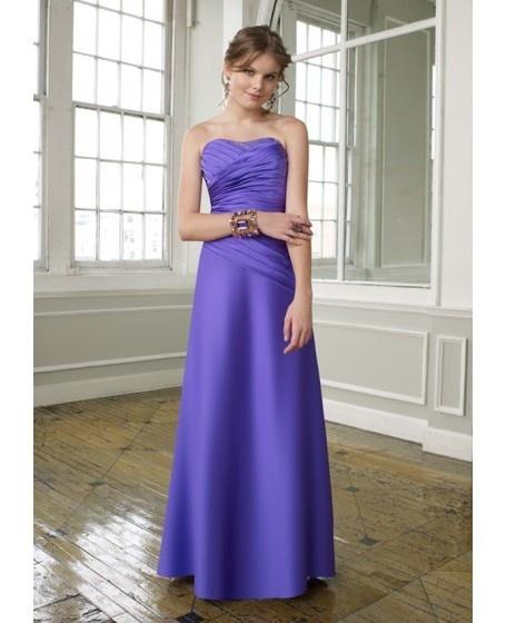 Sleeveless Satin A-line Strapless Neckline Bridesmaid Dress