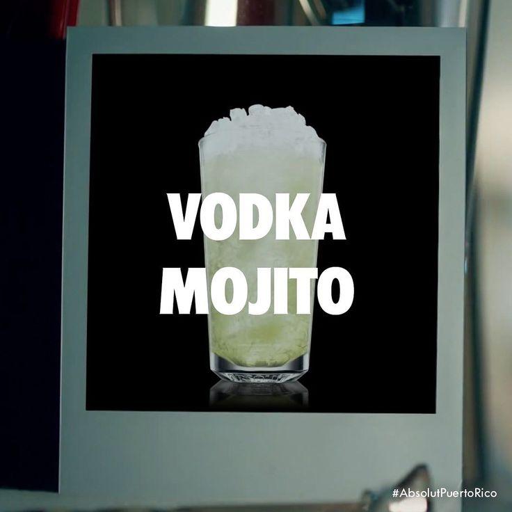 El Mojito sabe mejor con Absolut Vodka.  Vodka Mojito  2 Partes Absolut Vodka 1 Parte Jugo de Lima  Syrup 6 Hojas de menta 4 cuartos de lima Soda  Enmarañar las hojas y lima en un vaso alto. Llena el vaso con hielo achatado llenar jugo lima syrup y Absolut Vodka. Mover. Rellenar con soda y disfrutar.