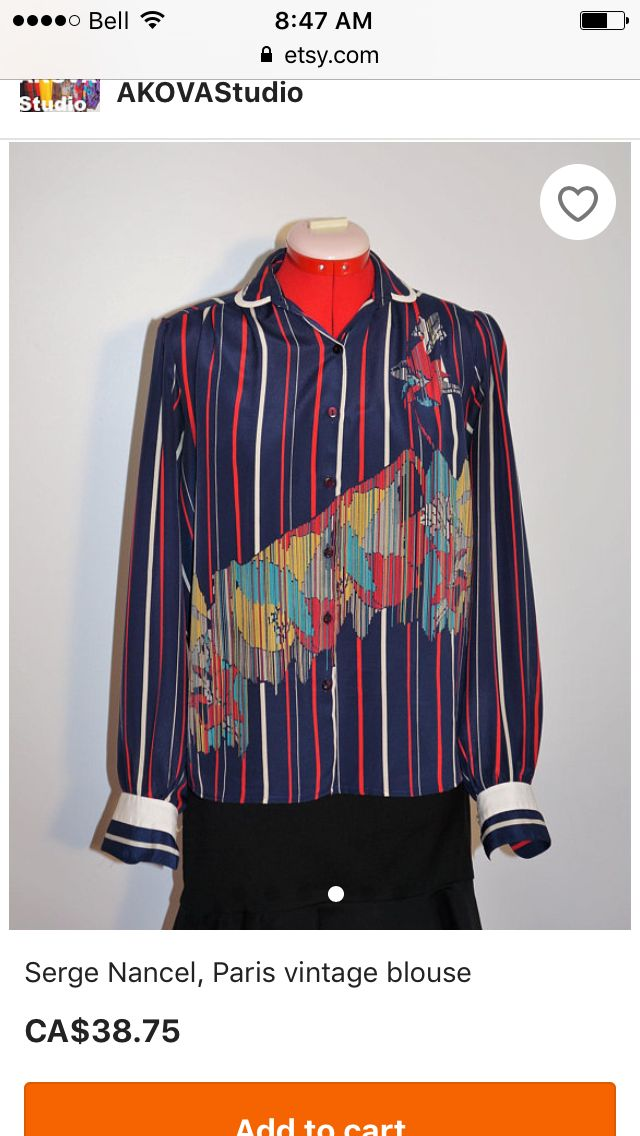 This Serge Nancel vintage blouse has been added