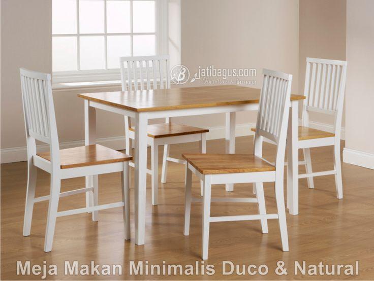 Meja Makan Kotak Minimalis Duco & Natural