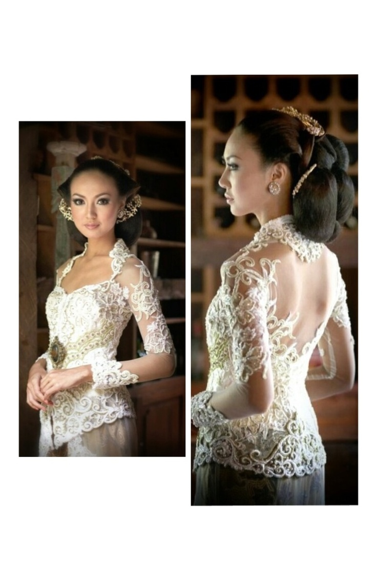 White elegance wedding kebaya. Cultural couture.