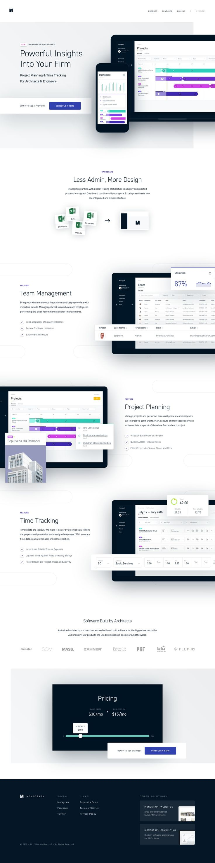 Monograph Is Project Planning And Time Tracking Software For Architects And  Engineers.