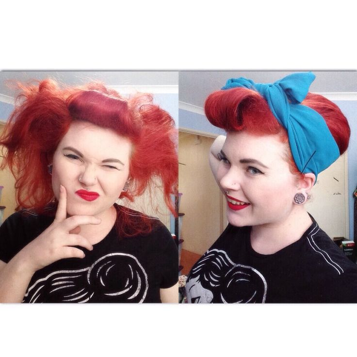 Beehive with hair scarf tutorial
