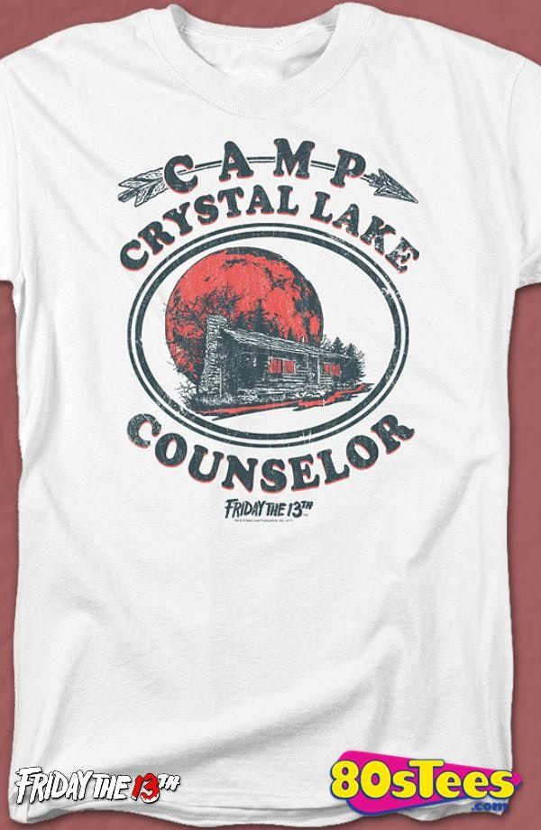 12267ee50 Camp Crystal Lake Counselor Friday the 13th T-Shirt | Wish list ...