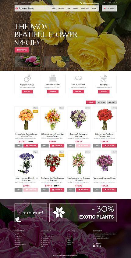 PrestaShop theme suitable for flower shop/services http://www.webmaisterpro.com/templateshop/prestashop-themes-type/52387.html