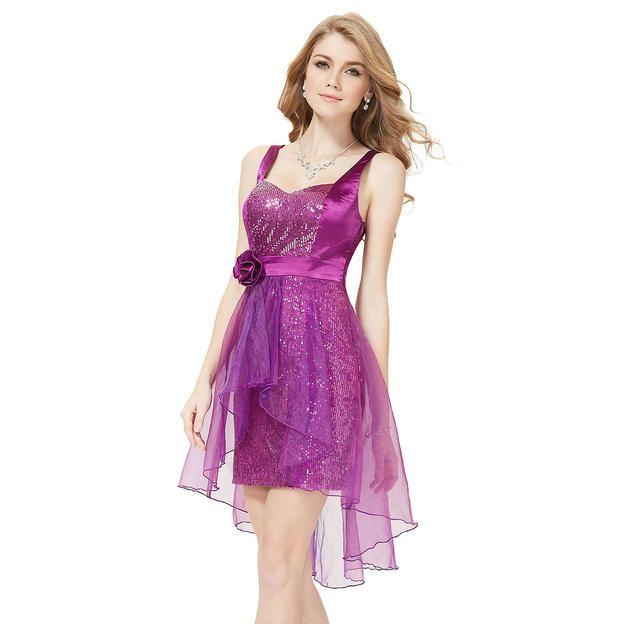 Ever-Pretty Ever Pretty Sleeveless Sequined Hi-Lo Purple ...