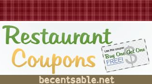 We have Restaurant Coupons for Olive Garden, Bonefish Grill, Papa John's, T.G.I. Friday's, Pizza Hut, Del Taco, Cinnabon and more.
