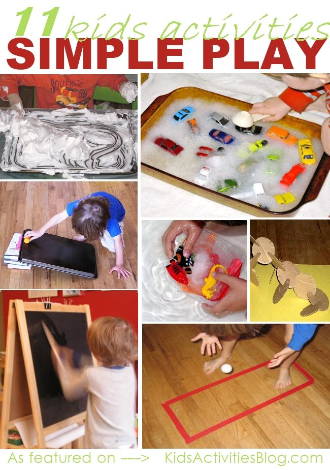 11 simple play activities for kids to do - #ece #play