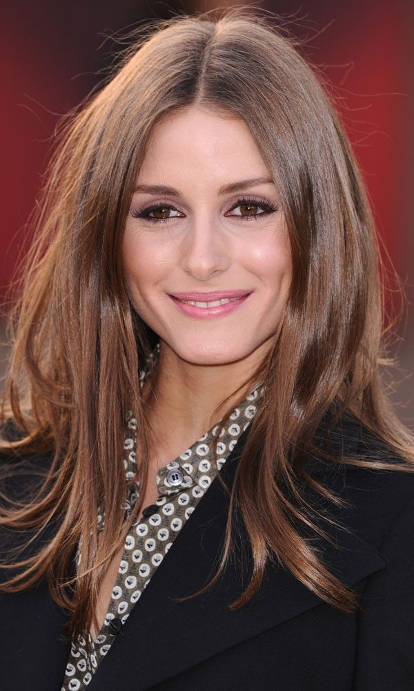 Olivia Palermo's glossy blow-dry hairstyle