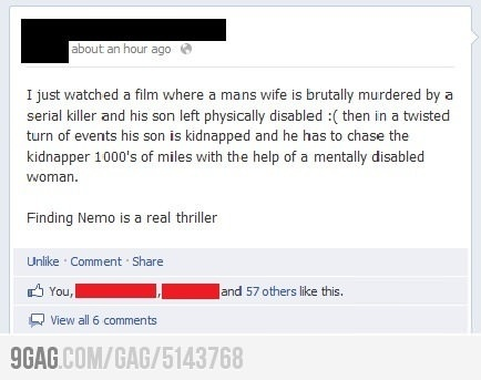 : Real Thrillers, Best Movie, Findingnemo, Random Things, Funny Pictures, Pure Gold, Funny Stuff, Favorite Movie, Finding Nemo