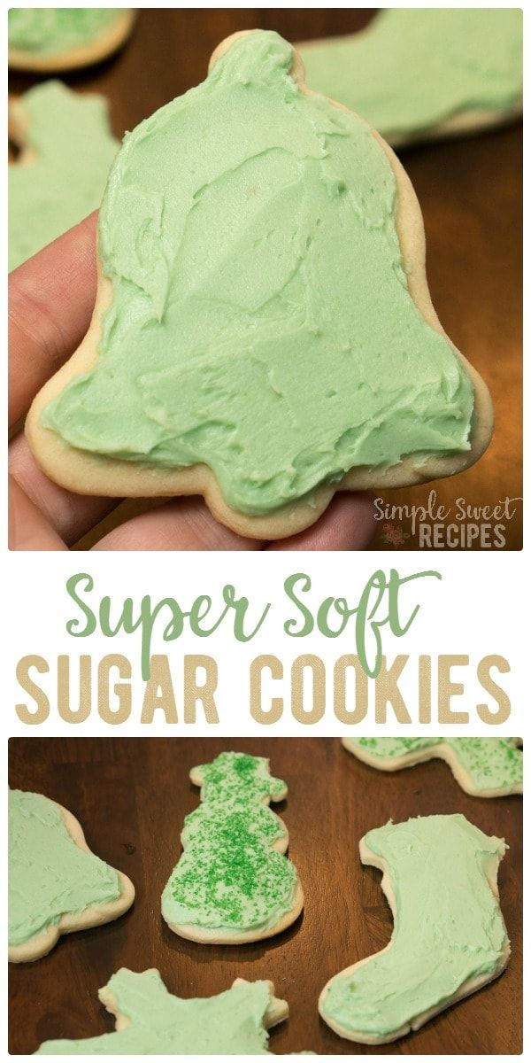 The softest sugar cookie recipe you'll ever find. These super soft sugar cookies are worth all the effort of mixing, rolling, cutting, baking, and frosting! via @simplesweetrecipes