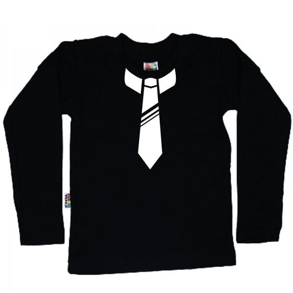 Koszulka dziecięca z długim rękawkiem - krawat z FamilyInBlack.pl