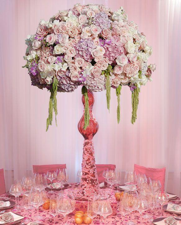 Preston Bailey Event Ideas, Final Vintage Pink Centerpiece
