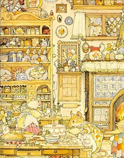Jill Barklem. I loved these books as a child. Gorgeous illustrations