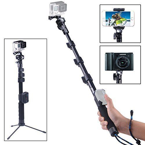 Smatree Smapole Y2 Telescoping Pole With Tripod Stand For Gopro Hero 5/4/3/3/2/1/session (wifi Remote Controller Is Not Included)