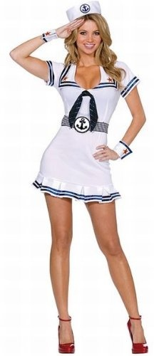 Halloween  Women's Sailor Costume - Sexy 5 Piece Set