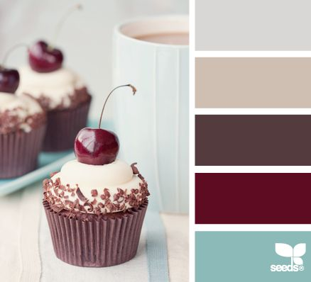 We want to do the bedroom the dark red and the bathroom one of the first two colors.