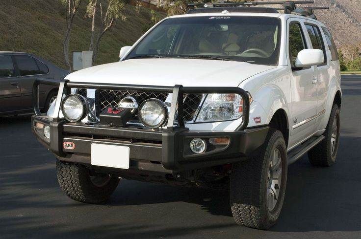 Nissan Pathfinder ARB deluxe bar picturs | Arb Deluxe Winch Bar For 2009 Nissan Pathfinder Amp Frontier