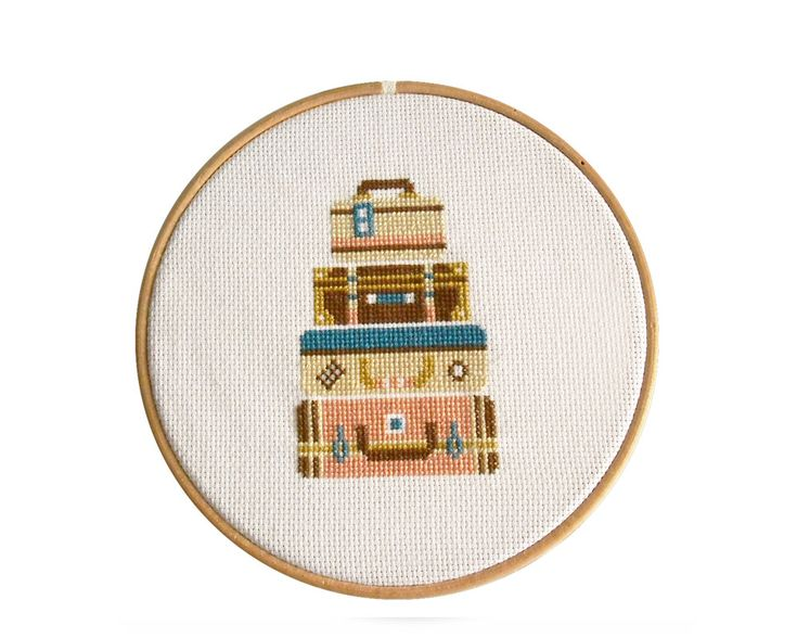 Cross Stitch Pattern PDF Bone Voyage Counted Cross por KokoPattern