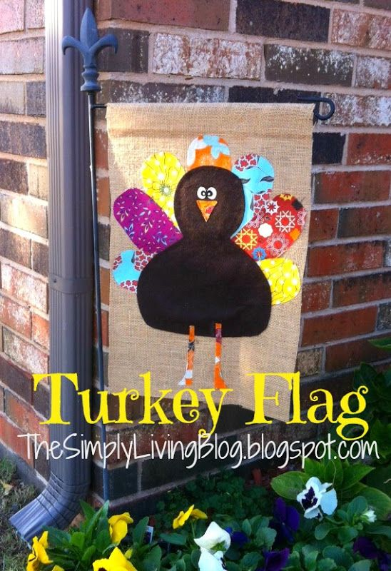 Simply Living : No Sew {Turkey Flag}