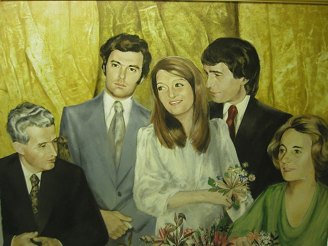 romania ceausescu  family in the 70s by monalisamachine