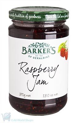 New Zealand Raspberry Jam - Barkers - 370g | Shop New Zealand
