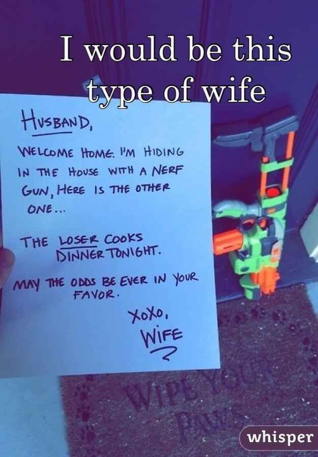 27 Hilariously Underwhelming Guilty Secrets: Date Night, Nerf Guns, Relationships Goals, Cute Ideas, Nerf War, Future Husband, My Husband, Hunger Games, Best Wife Ever