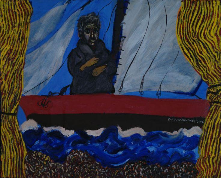 Like a theatre play      2006     oil on canvas     40x50 cm      Mantzavinos Tassos