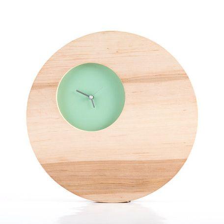 Reloj de pared de doble círculo Menta