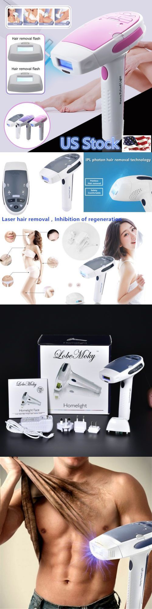 Epilators and Electrolysis: Us Women Rechargeable Laser Epilator Facial Body Hair Shaving Removal Depilator -> BUY IT NOW ONLY: $80.08 on eBay!