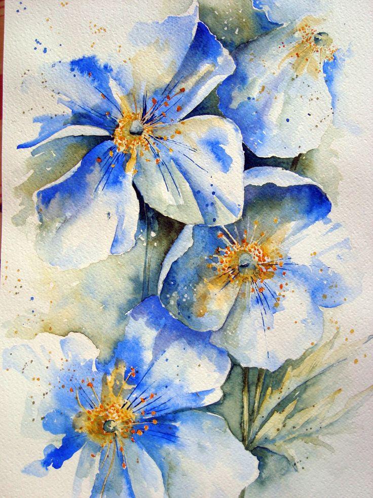 Limited Palette Floral watercolor, Floral watercolor