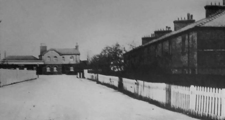 Pitsea Railway Station and cottages for Railway workers, early 1900's.