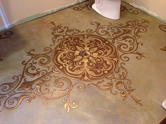Bild från http://diyforlife.com/wp-content/uploads/2014/08/painted-floor-1.jpg.