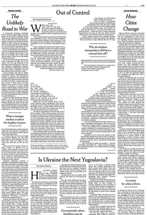 Brain Magazine - Page Président - Maquette spéciale ''disparition'' dans le New York Times