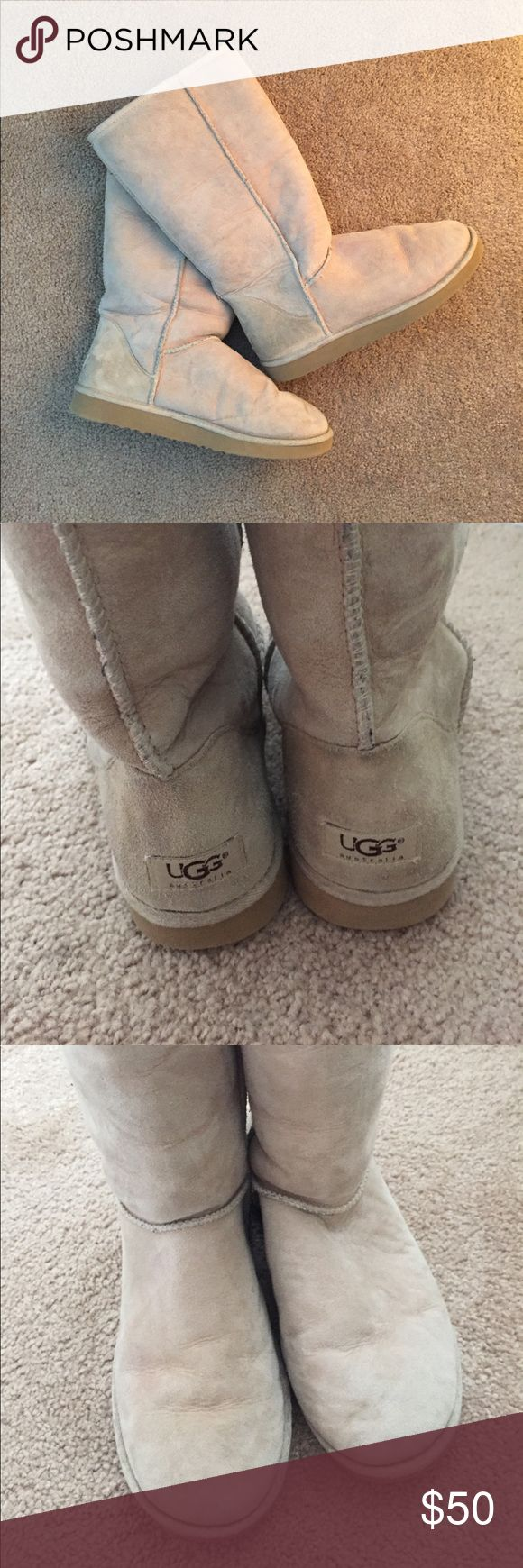 Original UGG Boots First generation of UGG boots, still in excellent condition! Inside fur is still fluffed (not packed at all), and very minor discoloration on outside. UGG Shoes Winter & Rain Boots