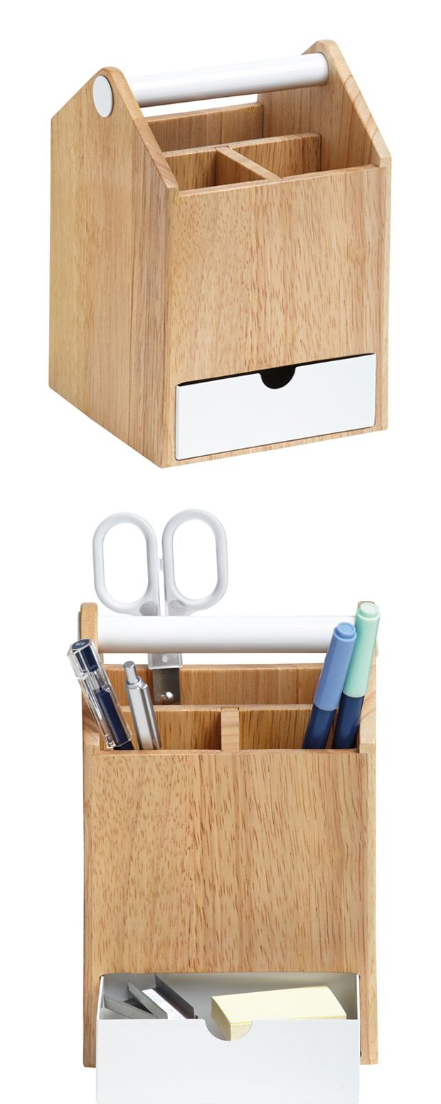 We can't say you won't lose anything again, but the Marstrand Storage Box takes you one step closer to organizational bliss. And what a looker it is! This chic caddy is crafted from light wood and meta...  Find the Marstrand Storage Box, as seen in the Scandinavian Farmhouse Collection at http://dotandbo.com/collections/scandinavian-farmhouse?utm_source=pinterest&utm_medium=organic&db_sku=117099