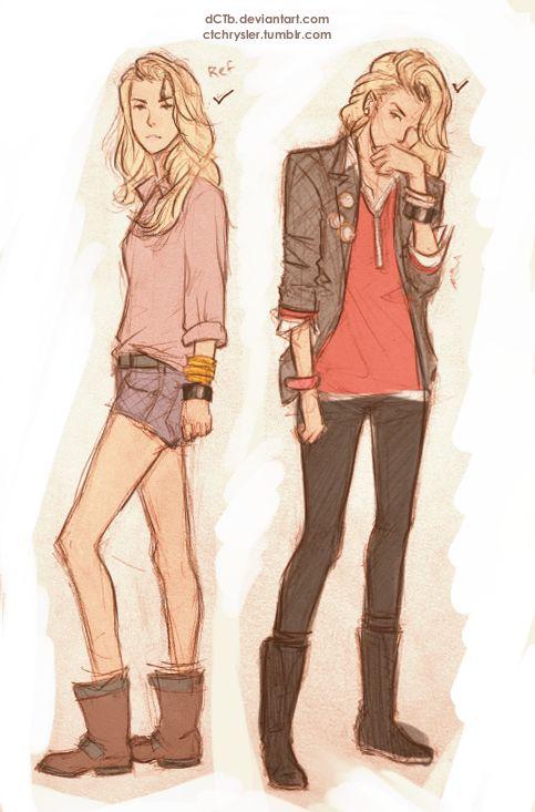 More colored Hana sketches!