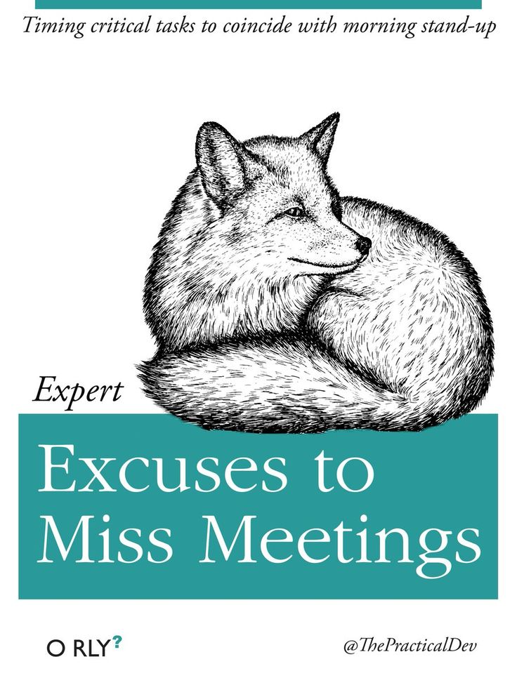 Expert Excuses to Miss Meetings