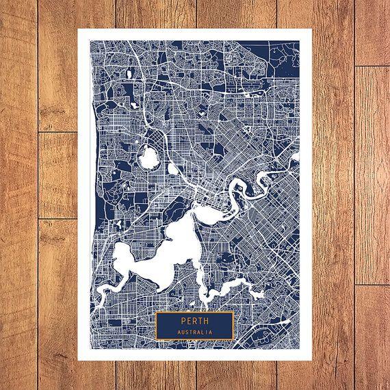 9 best australia jt images on pinterest city maps large art and perth australia canvas large art city map perth australia art print poster map art jt wall art home decor jacktravelmap gumiabroncs Image collections