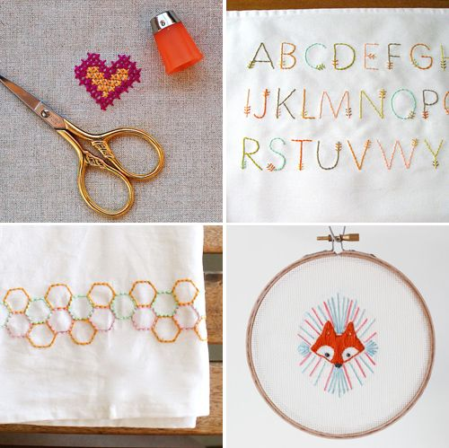 Sweet (and free) embroidery patterns.