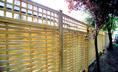 Beautiful Designer Fence Panels hand made from Oak-Quercus Fencing ...